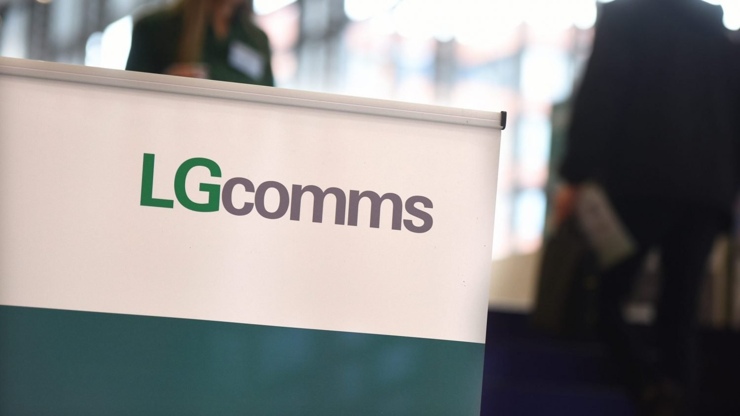 LGcomms sign at conference