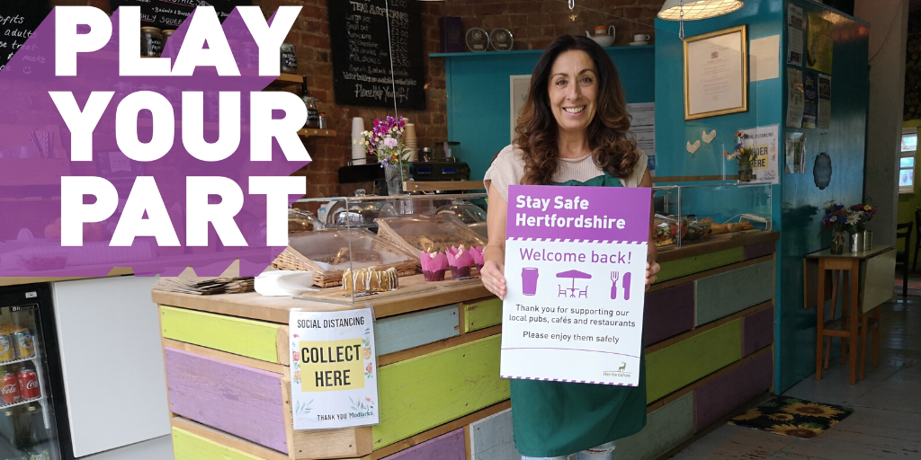 Herts County Council's Play Your Part campaign image