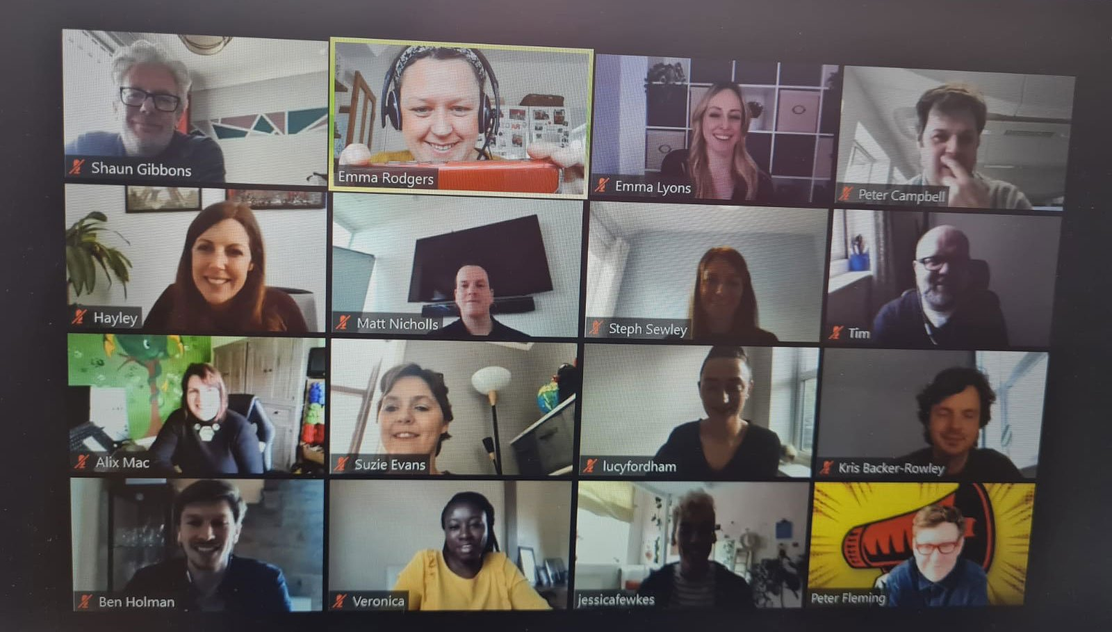 The 2021 Future Leaders cohort on a Zoom call