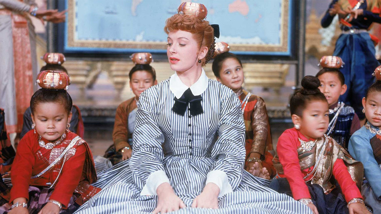 Deborah Kerr singing getting to know you in the film musical 'The King and I'